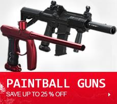Paintball Guns, Gun Packages, Electronic Guns, Tippmann, Empire, Dye, Dangerous Power, AXE, Magfed, Spyder